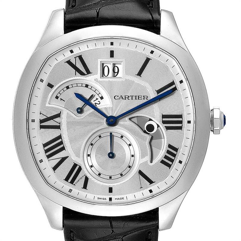 Cartier Drive Retrograde Chronograph Steel Mens Watch WSNM0005 SwissWatchExpo