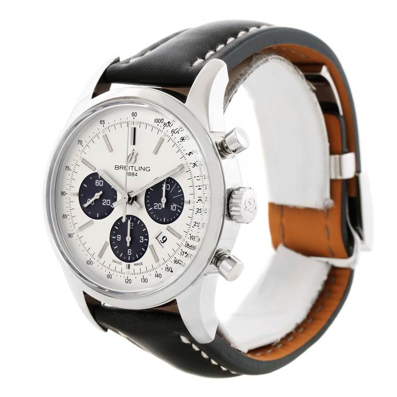 11698 Breitling Transocean Chronograph 43mm Mens Watch AB015212/G724-1ct SwissWatchExpo