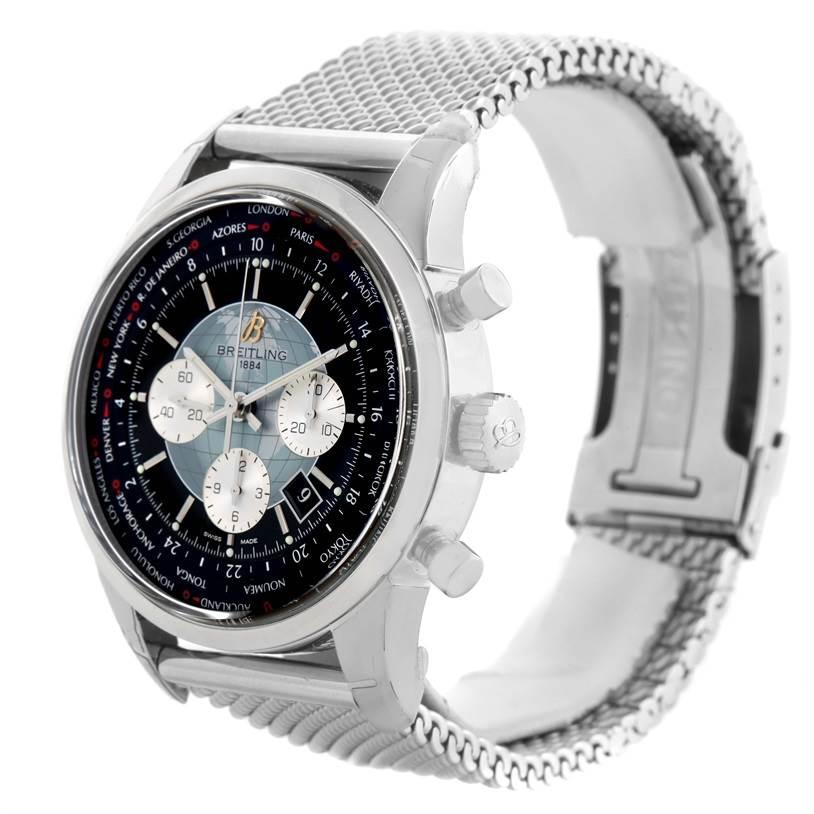 Breitling Transocean Chronograph Unitime Watch AB0510U4.BB62.152A Unworn SwissWatchExpo