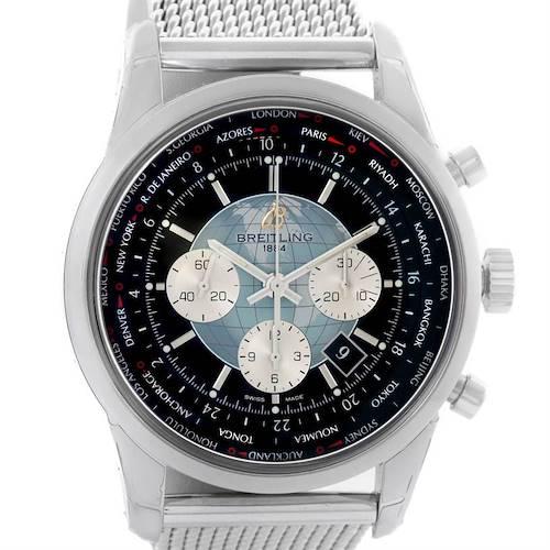 Photo of Breitling Transocean Chronograph Unitime Watch AB0510U4.BB62.152A Unworn