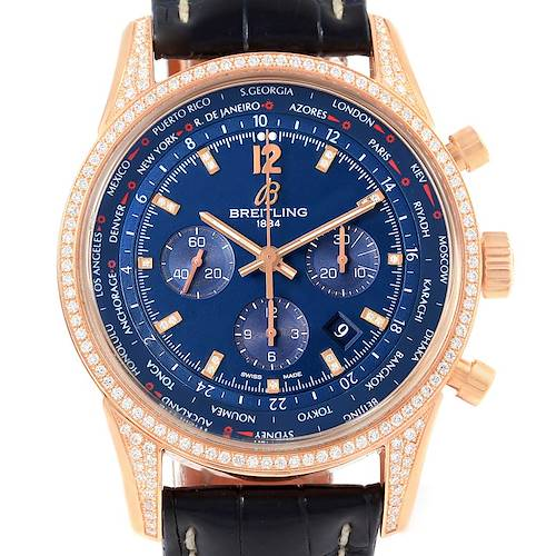 Photo of Breitling Transocean Chrono Rose Gold Diamonds LE Watch AB0510
