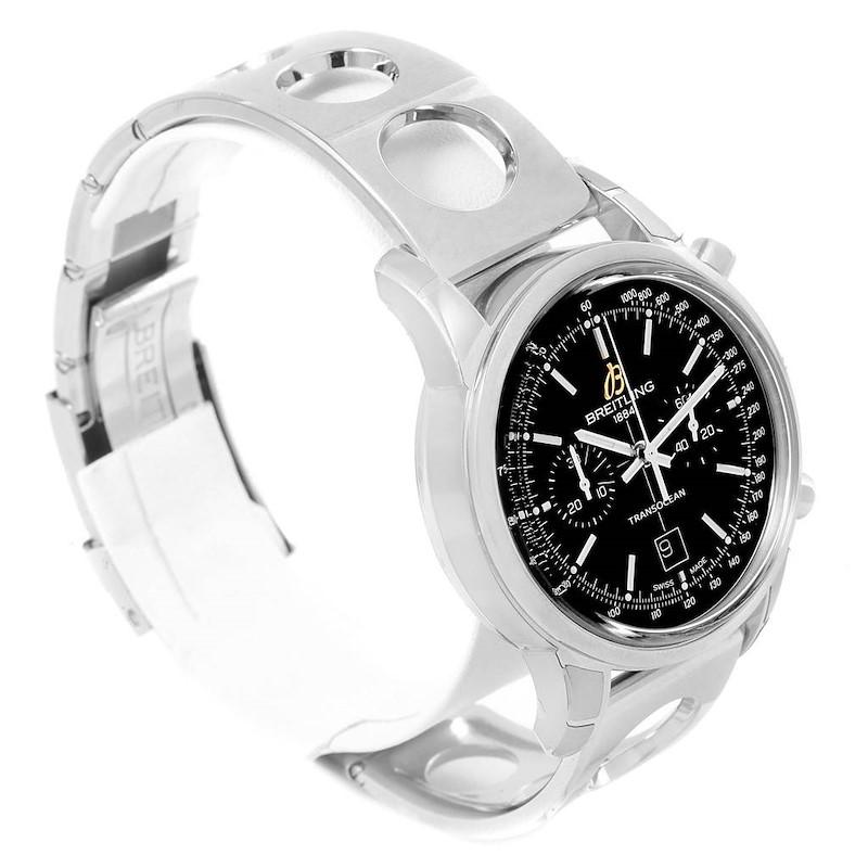 Breitling Transocean Chronograph 38 Automatic Steel Watch A41310 Unworn SwissWatchExpo