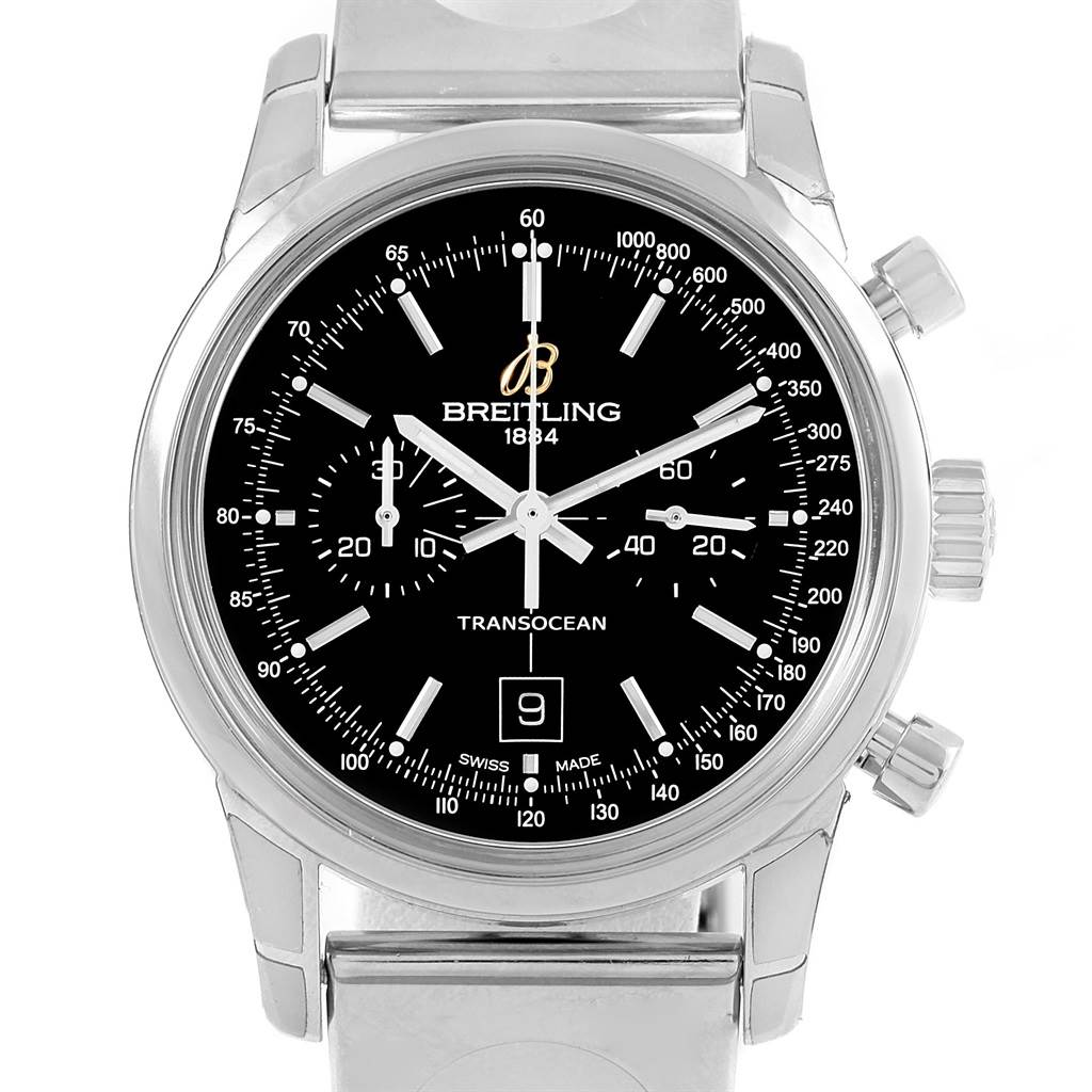 7e0895f0bed ... 17857 Breitling Transocean Chronograph 38 Automatic Steel Watch A41310  Unworn SwissWatchExpo ...