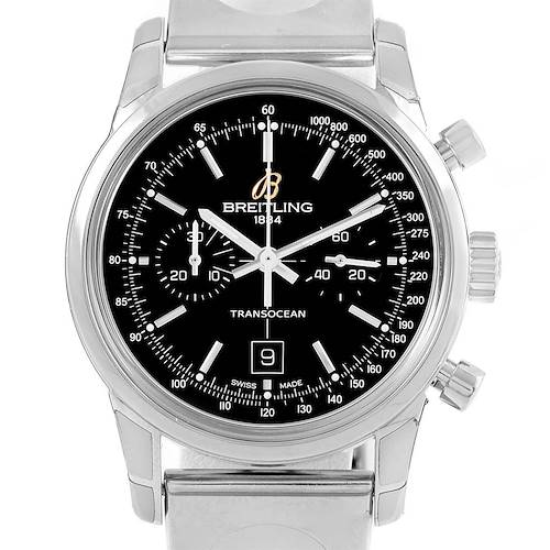 Photo of Breitling Transocean Chronograph 38 Automatic Steel Watch A41310 Unworn