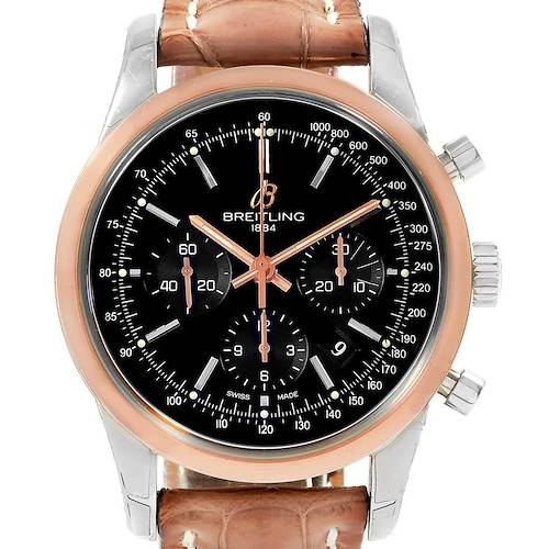 Photo of Breitling Transocean Chronograph 43mm Rose Gold Steel Mens Watch UB0152