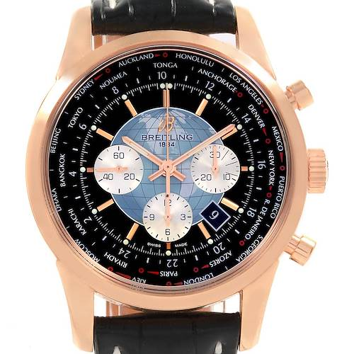 Photo of Breitling Transocean Chronograph Unitime Rose Gold Watch RB0510