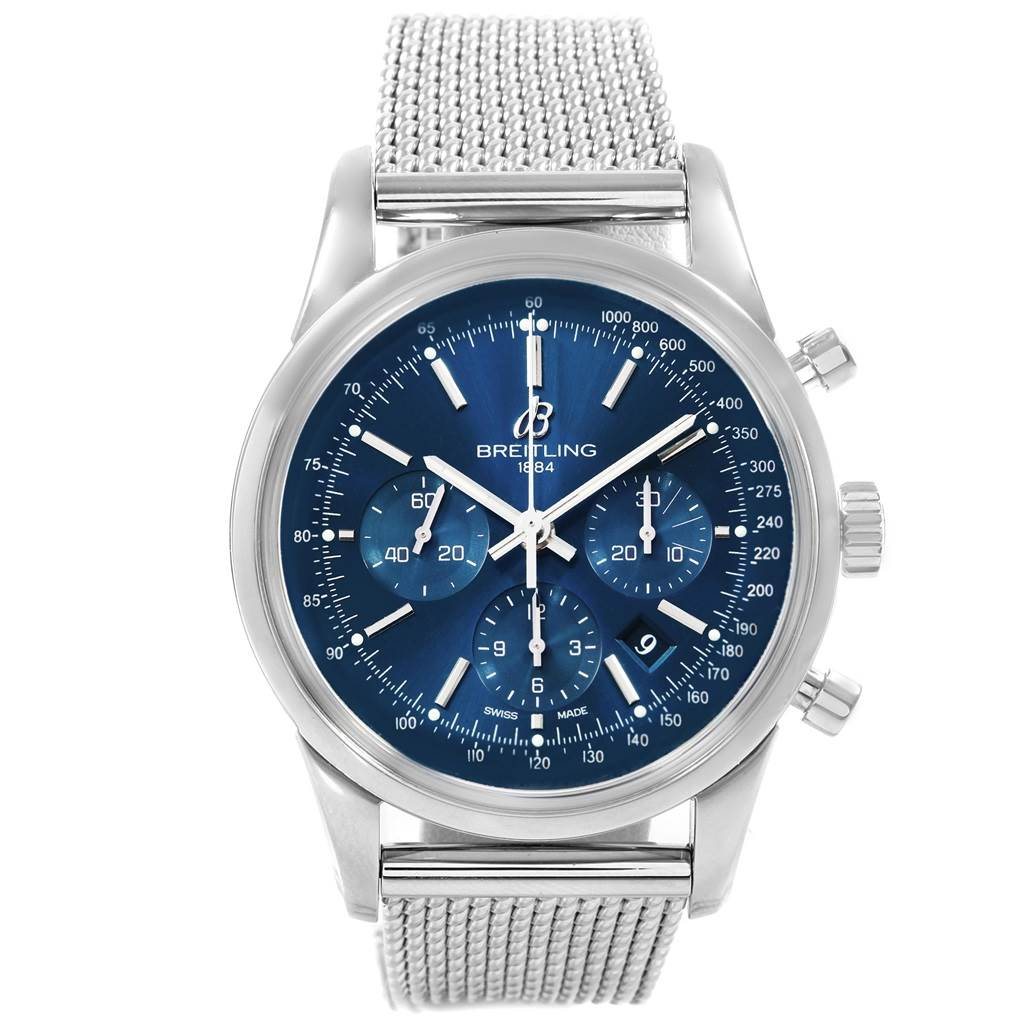 19471 Breitling Transocean Chronograph LE Mens Watch AB0151 Box Papers SwissWatchExpo