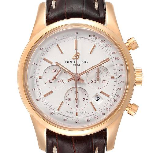 Photo of Breitling Transocean Chronograph 43mm Rose Gold Mens Watch RB0152