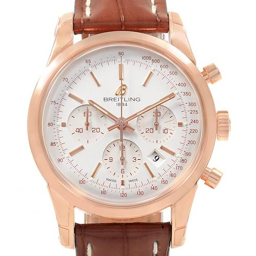 Photo of Breitling Transocean Chronograph 43 Rose Gold Mens Watch RB0152 Unworn