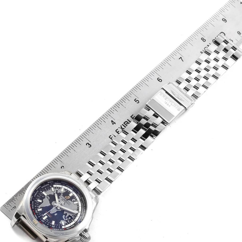 20641 Breitling Galactic Unitime SleekT Black Dial Mens Watch WB3510 Unworn SwissWatchExpo
