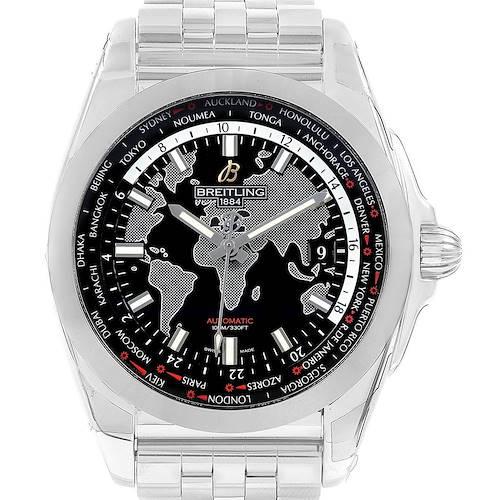Photo of Breitling Galactic Unitime SleekT Black Dial Mens Watch WB3510 Unworn