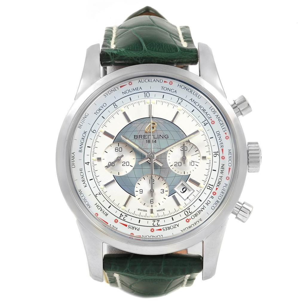 Breitling Transocean Chronograph Unitime Mens Watch  AB0510 Unworn SwissWatchExpo