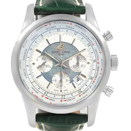 Photo of Breitling Transocean Chronograph Unitime Mens Watch  AB0510 Unworn