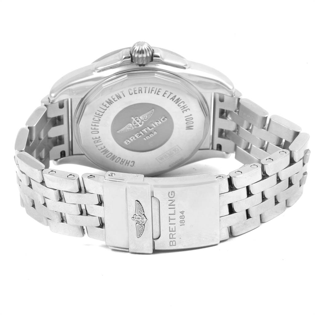 21528 Breitling Galactic Unitime SleekT White Dial Mens Watch WB3510 SwissWatchExpo