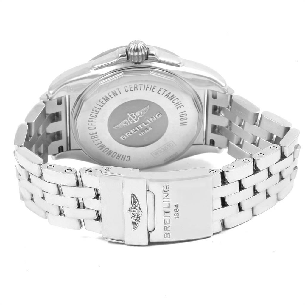 Breitling Galactic Unitime SleekT White Dial Mens Watch WB3510 Box SwissWatchExpo