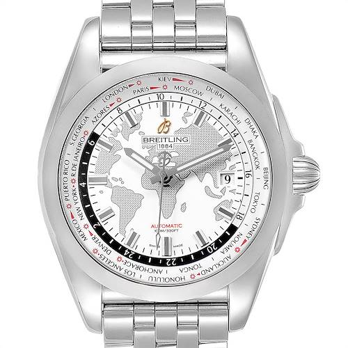 Photo of Breitling Galactic Unitime SleekT White Dial Mens Watch WB3510 Box