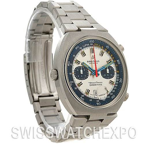 2570 Breitling Transocean Chronomatic Steel Vintage 2129 Watch SwissWatchExpo