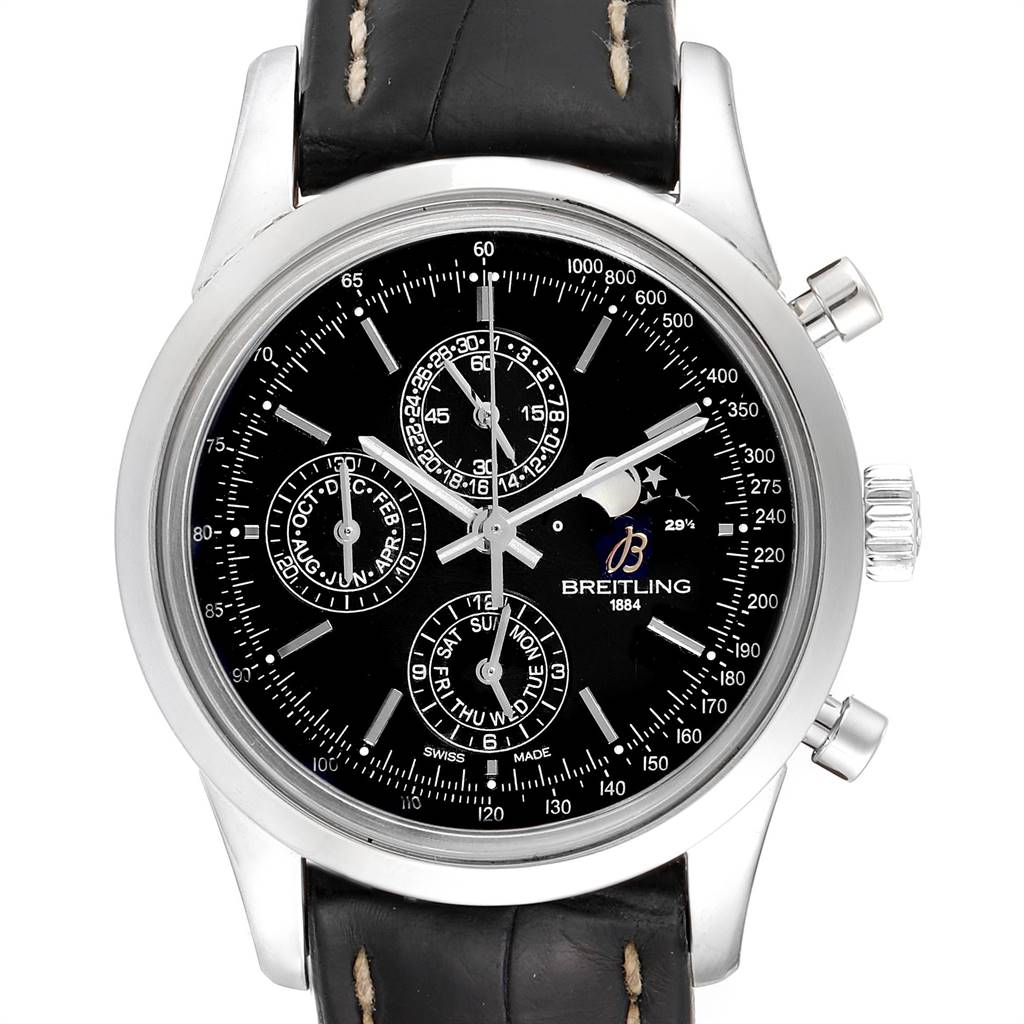 24449 Breitling Transocean Chronograph 1461 Perpetual Moonphase Watch A19310 SwissWatchExpo