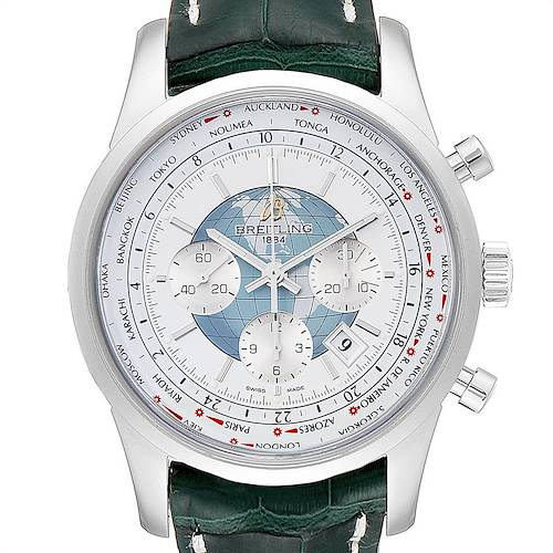 Photo of Breitling Transocean Chronograph Unitime Mens Watch AB0510 Box Papers