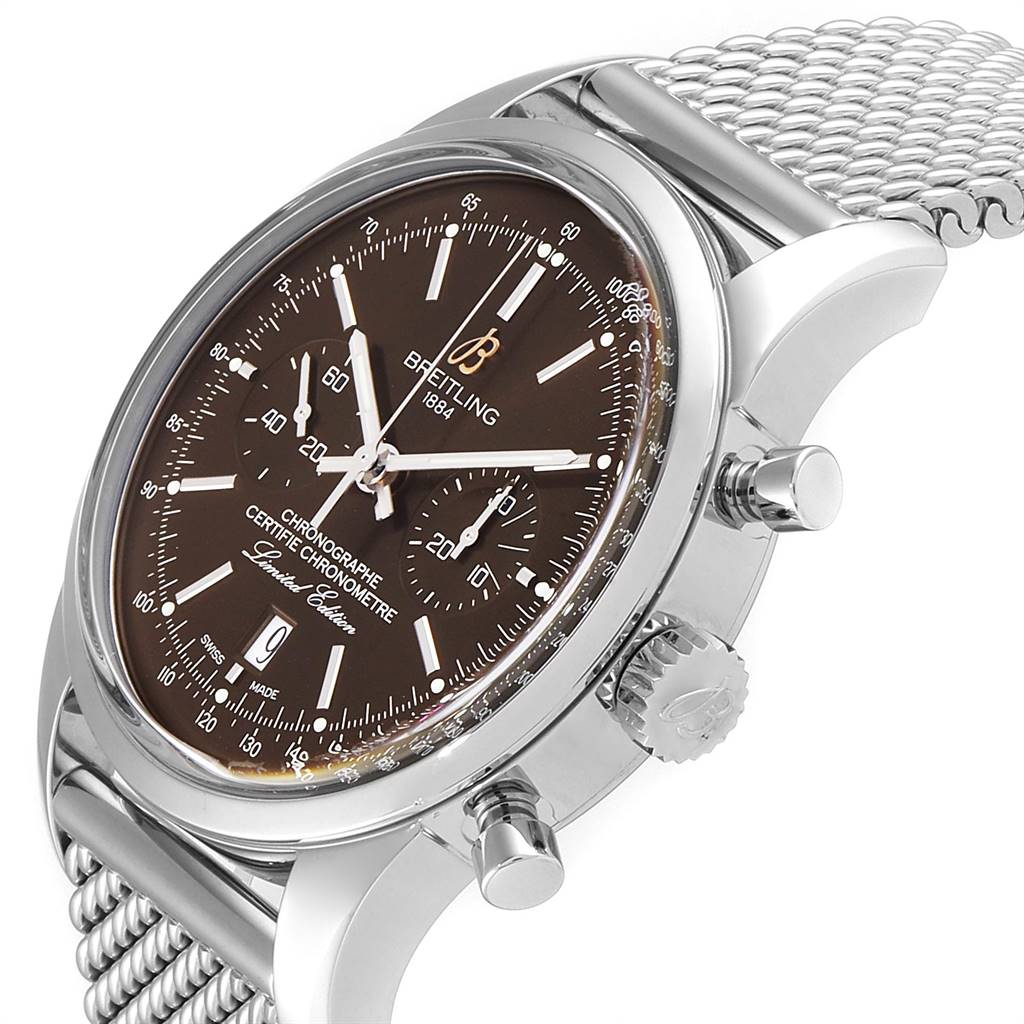 Breitling Transocean Bronze Dial Limited Edition Mens Watch AB0155 SwissWatchExpo