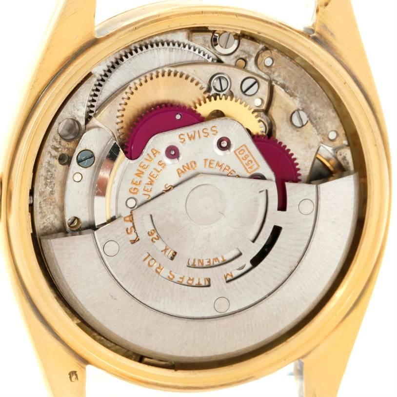 8948 Rolex Date Mens 14K Yellow Gold Vintage Watch 1500 SwissWatchExpo