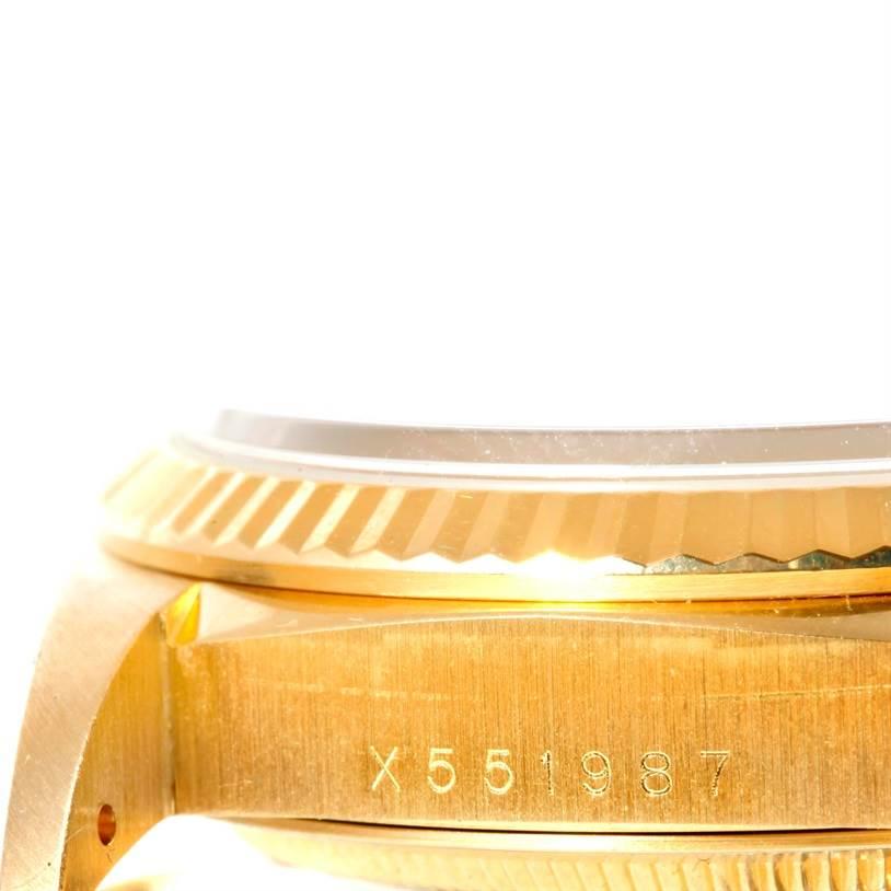 10396 Rolex President Day Date Mens 18k Yellow Gold Diamond Watch 18238 SwissWatchExpo