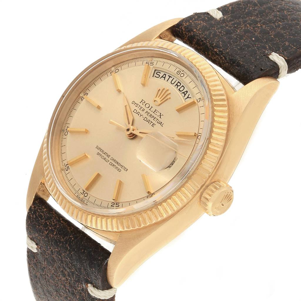 Rolex President Day Date Yellow Gold Vintage Mens Watch 6611 Box SwissWatchExpo