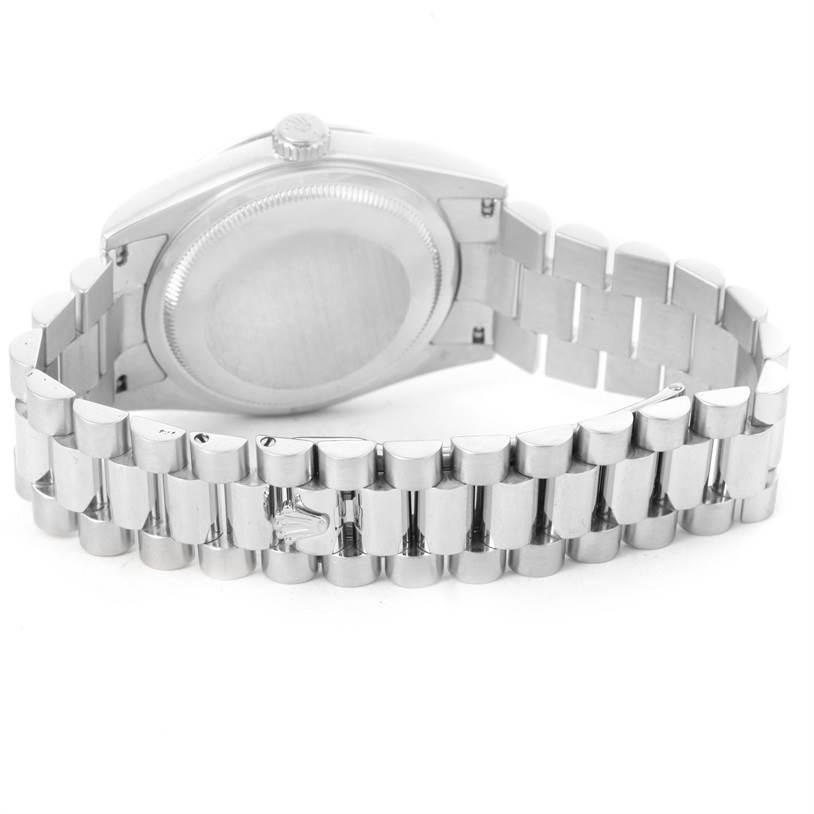 12671P Rolex President Day-Date Platinum Diamond Mens Watch 118206 SwissWatchExpo