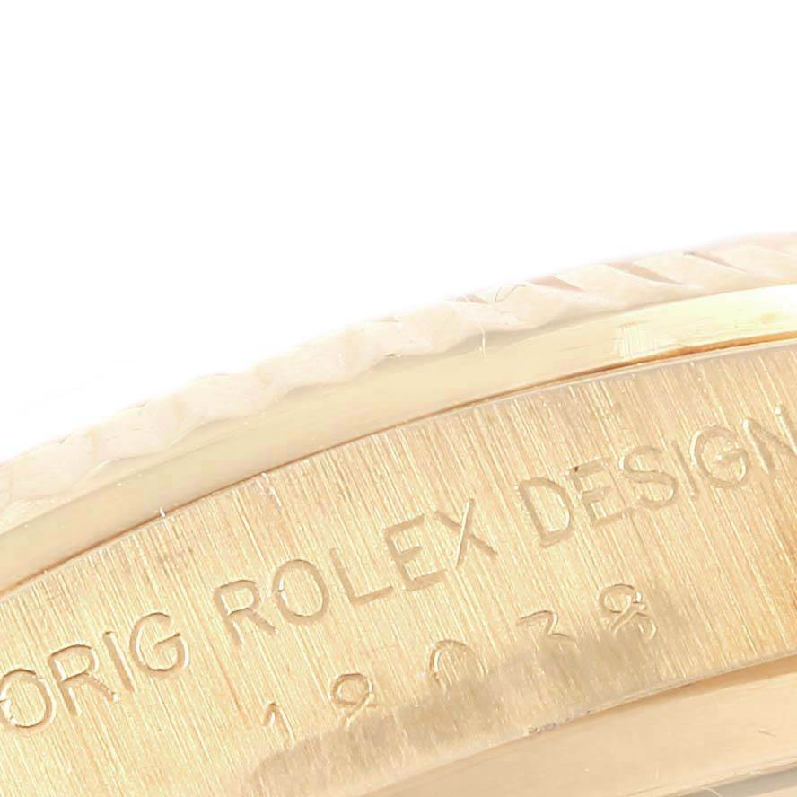 17021 Rolex President Day-Date Yellow Gold Brown Strap Mens Watch 18038 SwissWatchExpo