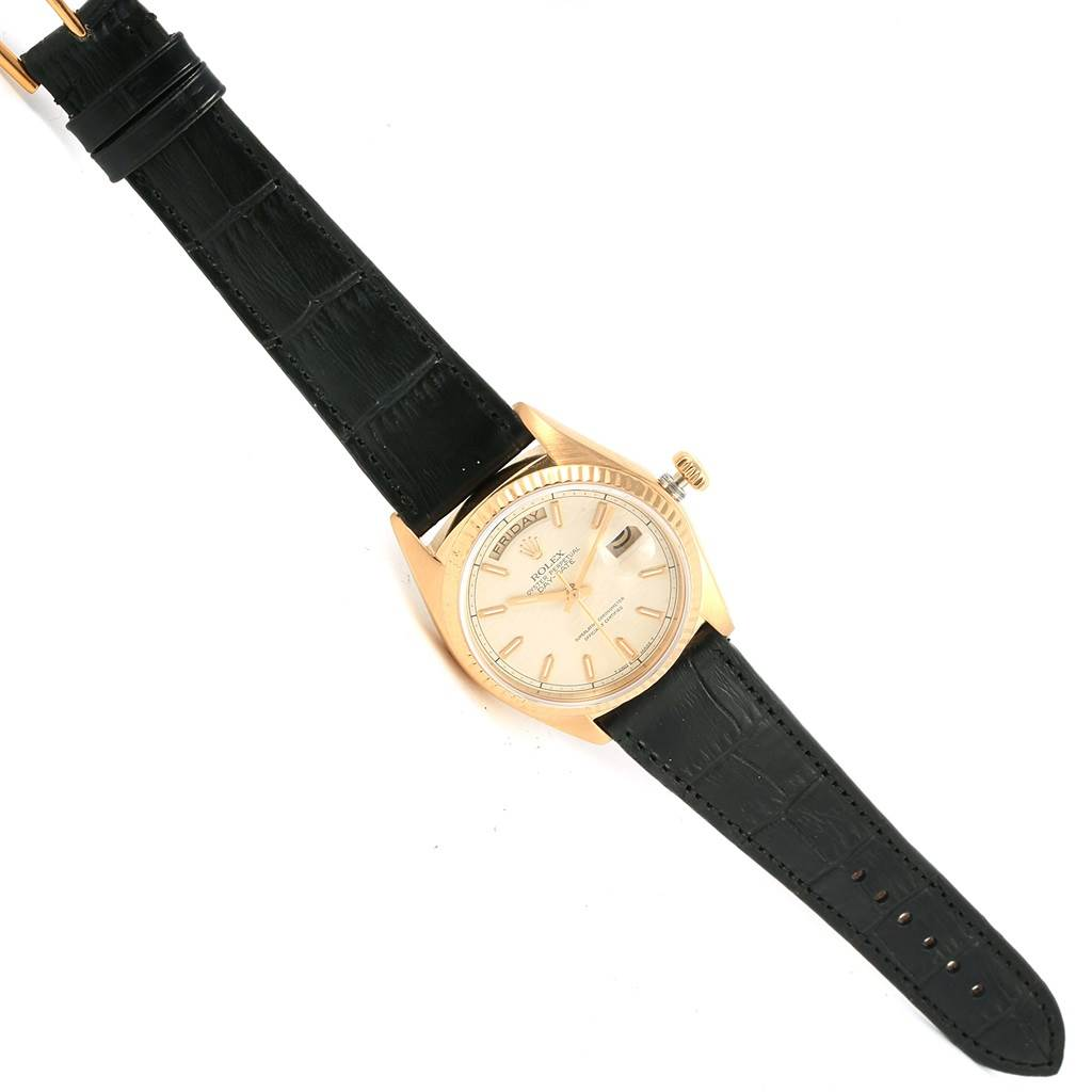 16931 Rolex President Day-Date Yellow Gold Anniversary Dial Mens Watch 18038 SwissWatchExpo