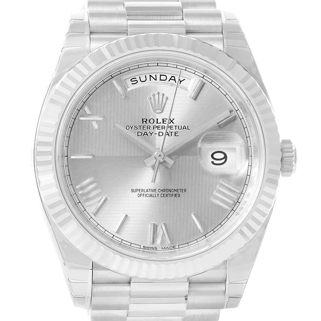 24e549b6123 ... 19664 Rolex President Day-Date 40 Quadrant White Gold Watch 228239 Box  Card SwissWatchExpo ...