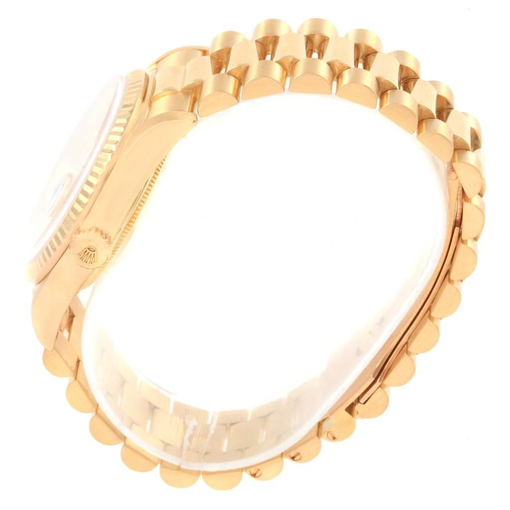 20601 Rolex Date 18k Yellow Gold Diamond Dial Automatic Mens Watch 16238 SwissWatchExpo