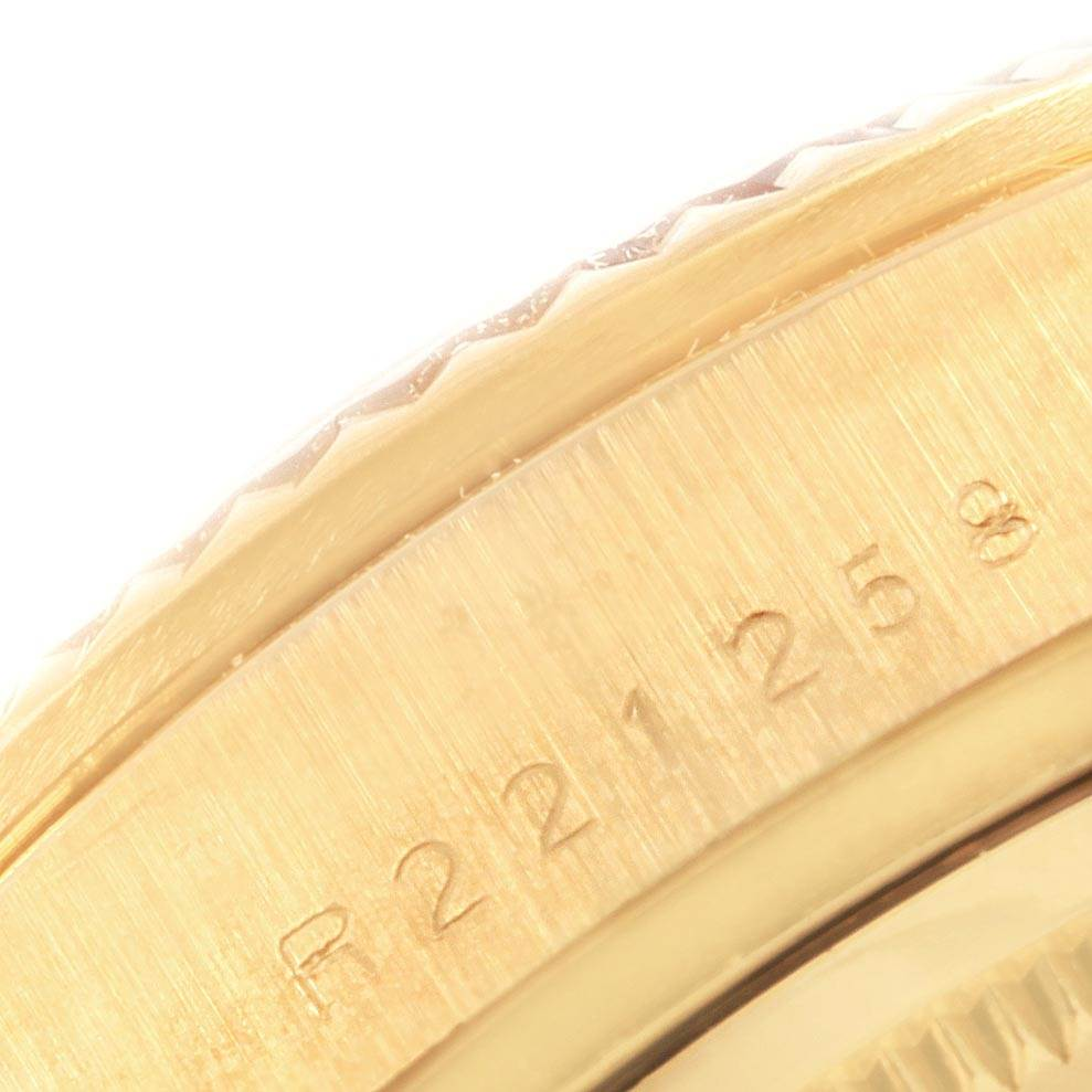 20605 Rolex President Day-Date Yellow Gold Blue Jubilee Dial Mens Watch 18038 SwissWatchExpo
