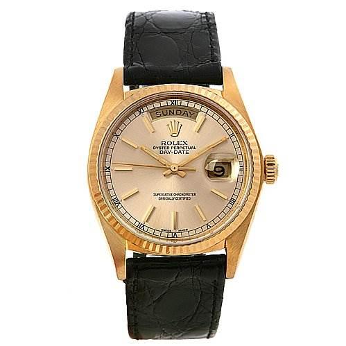 2445 Rolex President Vintage 18k y Gold Watch 18038 1979-80 SwissWatchExpo