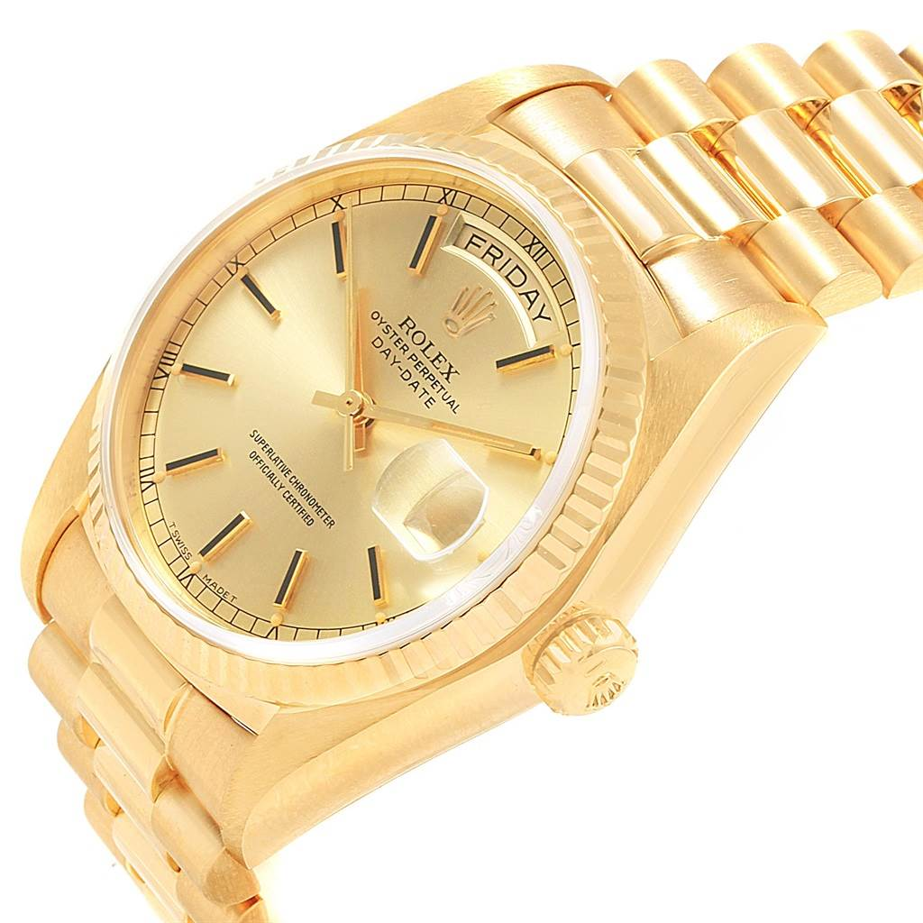 20733 Rolex President Day-Date Mens 18k Yellow Gold Mens Watch 18038 SwissWatchExpo