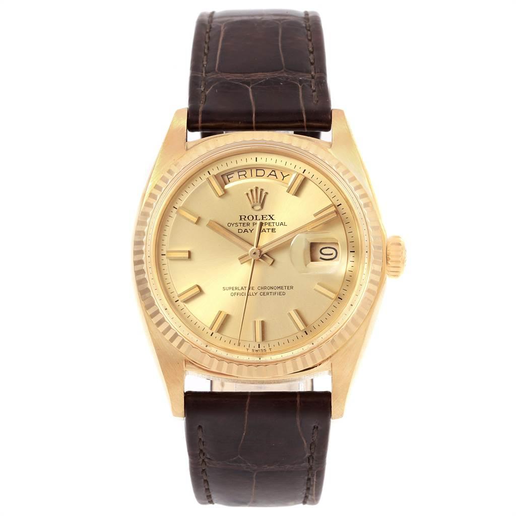 21506 Rolex President Day-Date Vintage Yellow Gold Wide Boy Mens Watch 1803 SwissWatchExpo