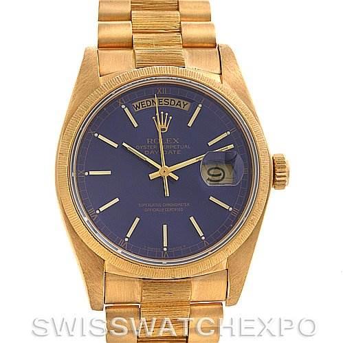2498 Rolex President Mens 18k Yellow Gold 18038  SwissWatchExpo
