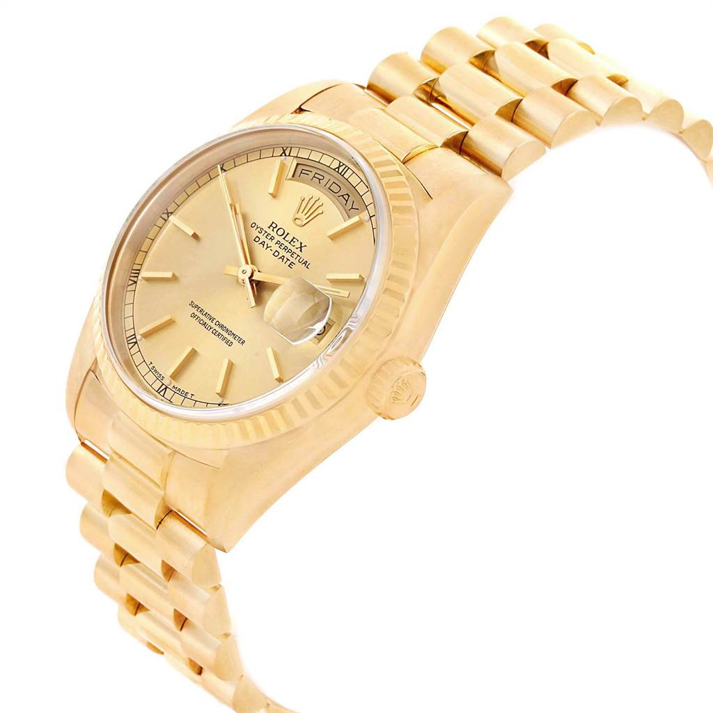 22169 Rolex President Day-Date 36 Yellow Gold Champagne Dial Mens Watch 18238 SwissWatchExpo