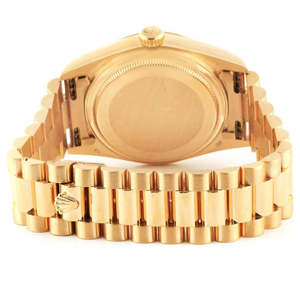 22500 Rolex President Day-Date Mens 18k Yellow Gold Mens Watch 18038 SwissWatchExpo