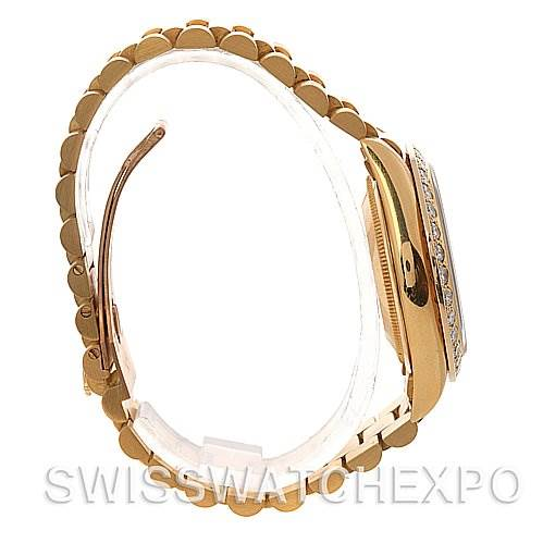 2527 Rolex President Mens 18k Yellow Gold Diamond 18238 SwissWatchExpo