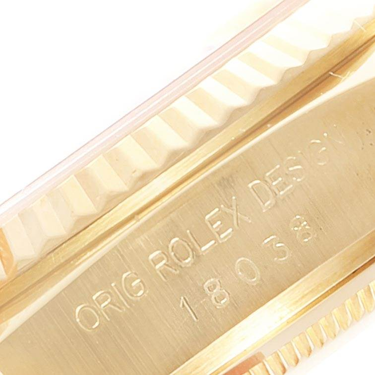 Rolex President Day-Date Yellow Gold Mens Watch 18038 Box Papers SwissWatchExpo