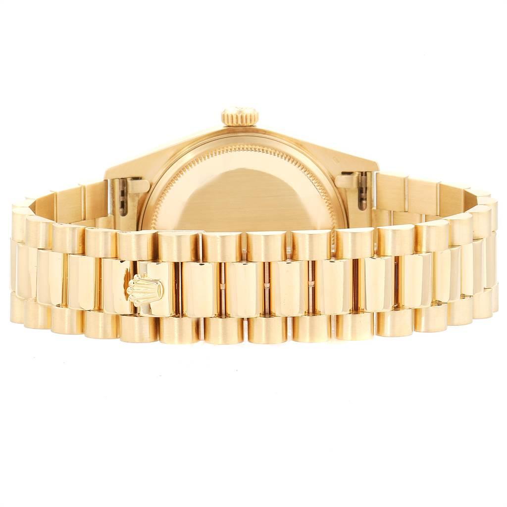 Rolex President Day-Date 36mm Yellow Gold Mens Watch 18038 SwissWatchExpo