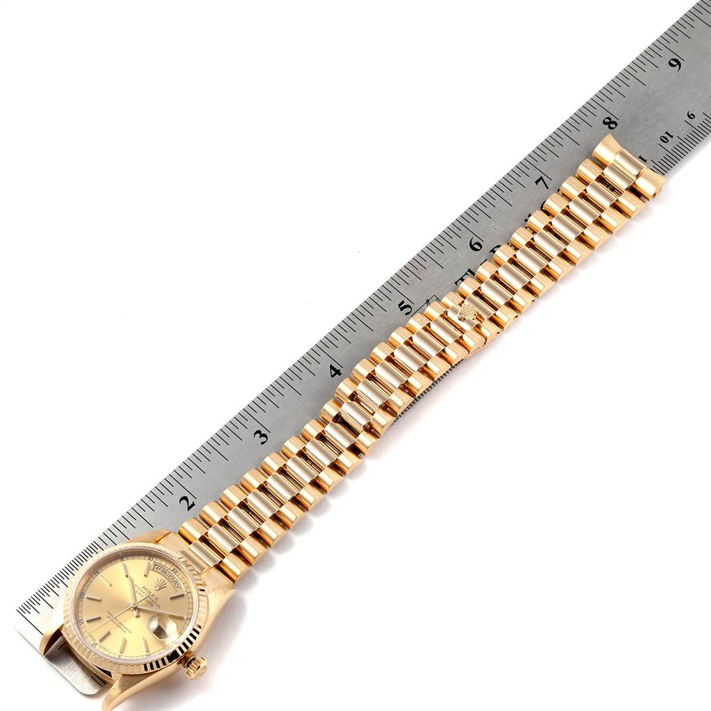 24047 Rolex President Day-Date 36 Yellow Gold Champagne Dial Mens Watch 18238 SwissWatchExpo