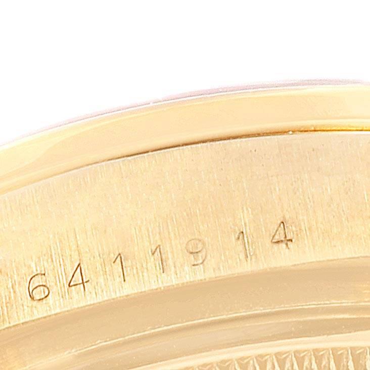 Rolex President Day-Date Yellow Gold Bloodstone Diamond Mens Watch 18078 SwissWatchExpo