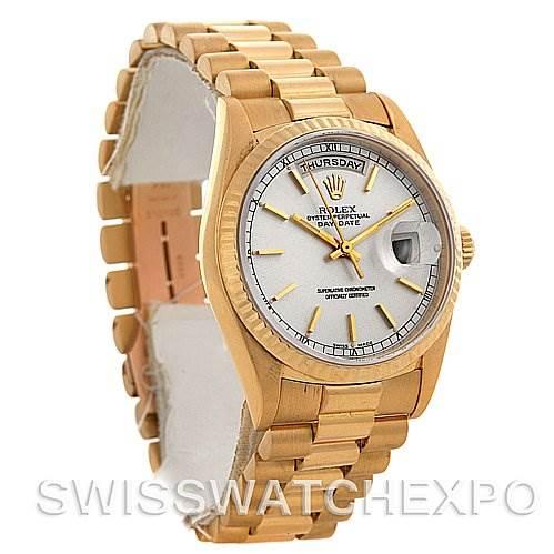 2586 Rolex President Mens 18k Yellow Gold 18238 Box/Papers SwissWatchExpo