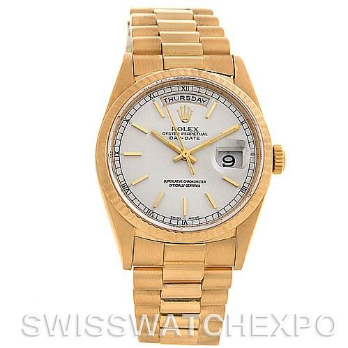 Rolex President Mens 18k Yellow Gold 18238 Box/Papers SwissWatchExpo