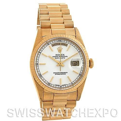 2589 Rolex President Mens 18k Yellow Gold 18238  SwissWatchExpo