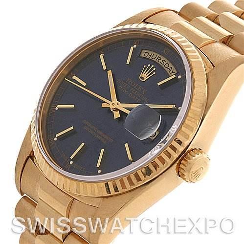 2590 Rolex President Mens 18k Yellow Gold 18238 yr1989-1990 SwissWatchExpo