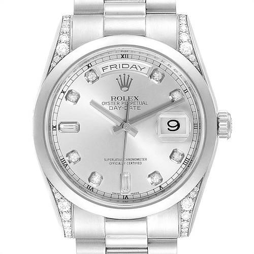 Photo of Rolex President Day-Date Platinum Diamond Mens Watch 118296