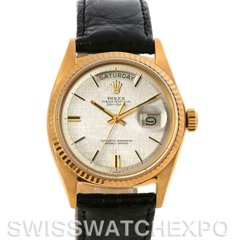 2696 Rolex President Vintage 18k Yellow Gold Watch 1803 Year 1968 SwissWatchExpo